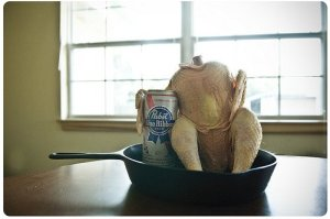 beerbuttchicken1 - Beer Butt Chicken