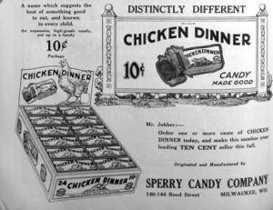 1924 chicken dinner - Chocolatey Chicken Dinner