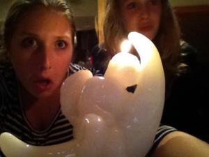 jess julia and creepy candle - Inside-Day