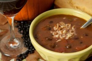 blackbeanpumpkinsoup1 - Black Bean Pumpkin Soup and Wine Pairings