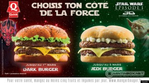 """dark burger quick - Would you try the """"Dark Vader"""" burger?"""