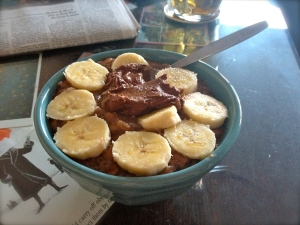 chocolate oatmeal with egg whites