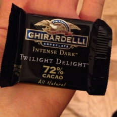"""I wonder if dark chocolate would be on the """"healthy foods"""" list. A gal can dream..."""