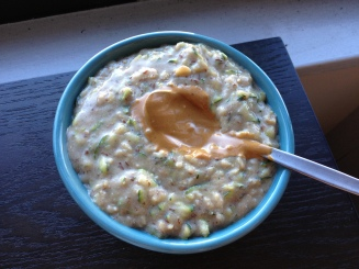 ubiquitous bowl of zucchini bread oats