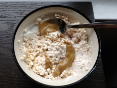 yogurt with puffed millet