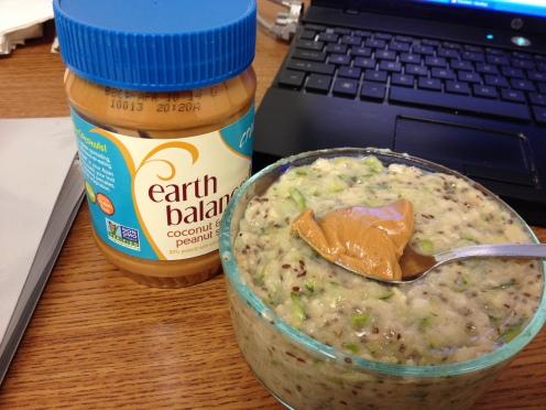 zucchini bread oats at work