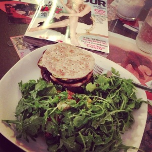 Turkey burger & salad=perfect post-Zumba dinner!