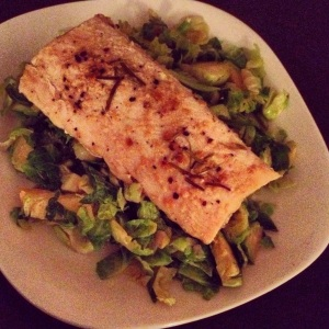 mahi mahi with brussels sprouts