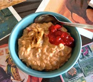 pumpkin cranberry oatmeal
