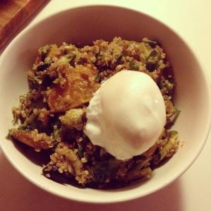 black garlic quinoa
