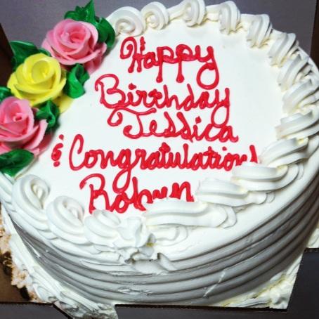 happy bday congrats cake