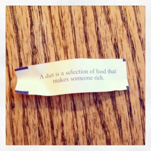 diet fortune cookie