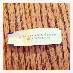 diet fortune cookie