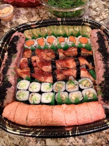 sushi platter christmas