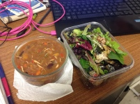 soup and salad desk lunch