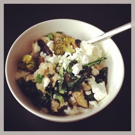 quinoa egg white bowl