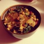 spicy chickpea mushroom stew
