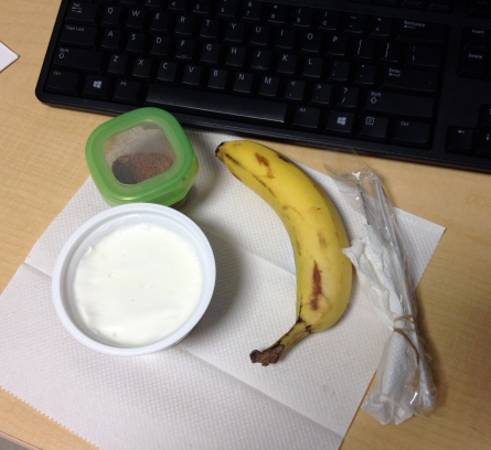 yogurt desk breakfast