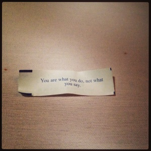 actions and words fortune cookie